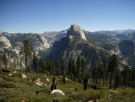 Half Dome in Yosemite National Park viewed from Glacier Point.